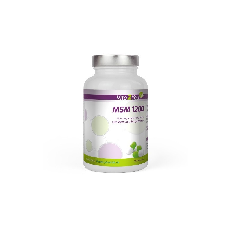 MSM 1200 - 360 Kapseln - (Methylsulfonylmethan) - Hochdosiert